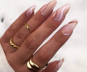cream and nails image