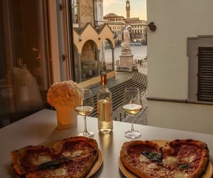 date, romantic, and pizza image