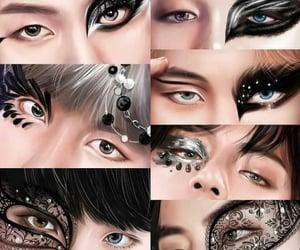 eye make up, eyes, and fanart image