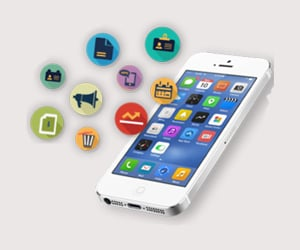 app development, mobile app, and business app image