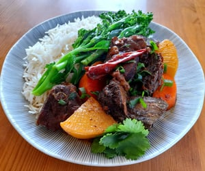 Asian-style beef and rice