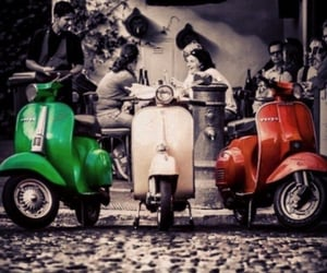 italy and Vespa image