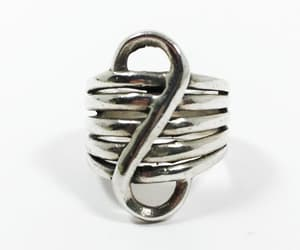 etsy, mimisjewelryboutique, and modernist ring image