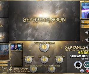twitch, twitch overlay, and twitch panels image
