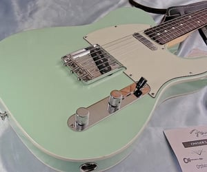 guitar, green, and aesthetic image