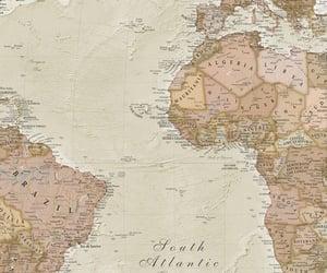 beige, map, and vintage image