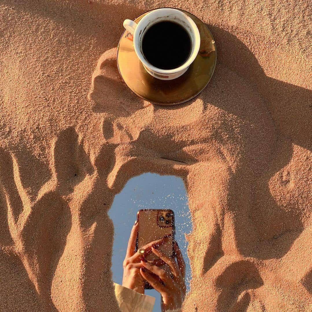 beach, mirror, and tea image