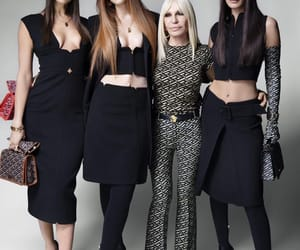 beauty, Donatella Versace, and fashion image