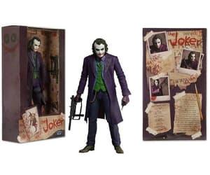 action figure, heath ledger, and joker image