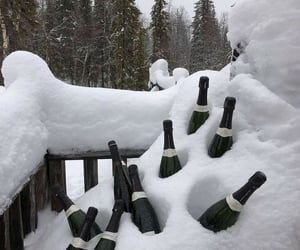 champagne, snow, and ice image
