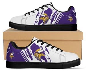 custom shoes, minnesota vikings, and running shoes image