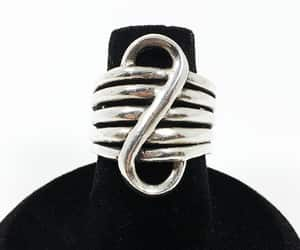 etsy, mimisjewelryboutique, and silver modernist image