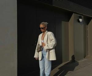 blogger, new balance, and beige blazer image