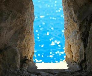 blue, ocean, and rock image