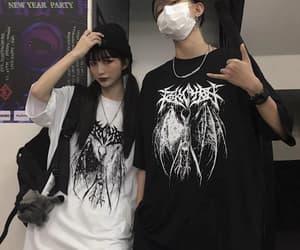 black, gothic, and tshirt image