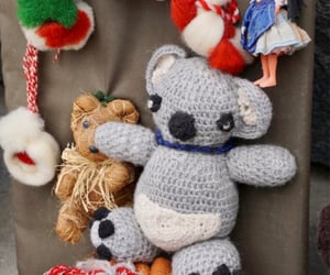 handmade, Koala, and vintage image