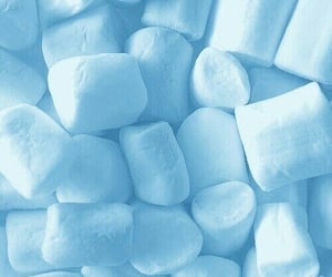 blue, marshmallows, and sweets image