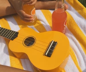aesthetic, drink, and guitar image