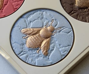 blue, bee, and makeup image