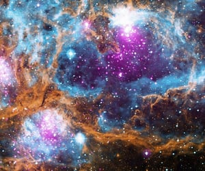cosmos, outer space, and galaxy image