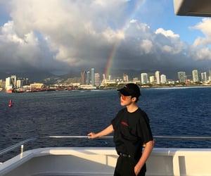 glasses, jimin, and blue ocean image