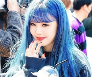 blue, girl, and kpop image
