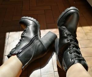 black, look, and heel shoe image