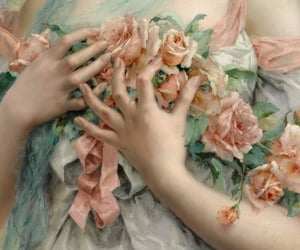 roses, art, and hands image