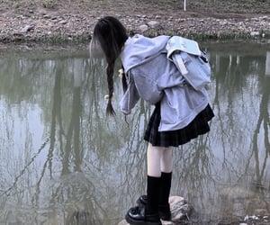 dark, faceless, and girl image