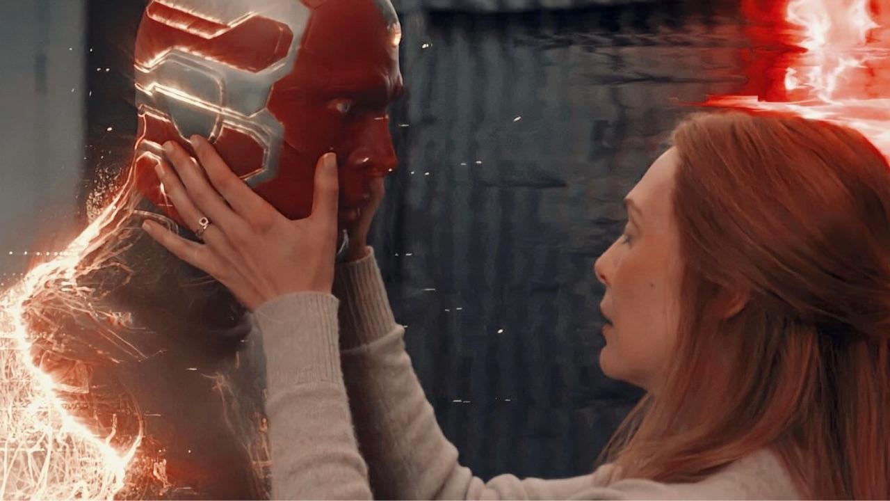 elizabeth olsen, Marvel, and paul bettany image