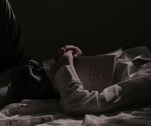 book, dark, and man image