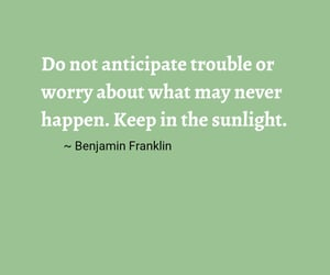 ben franklin, happiness, and in the moment image