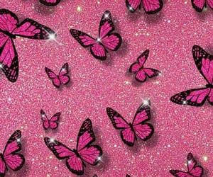 aesthetic, butterfly, and glitter image