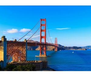 city, golden gate bridge, and travel image