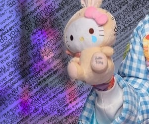hello kitty, messy, and sanriocore image