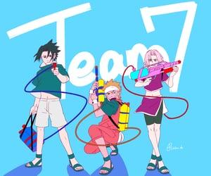 sakura, sasuke uchiha, and team 7 naruto image