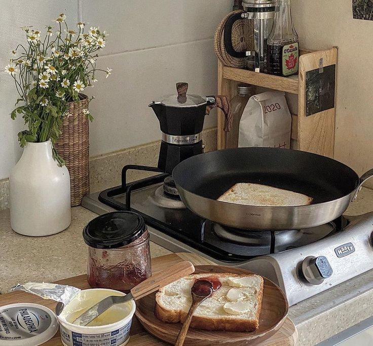 aesthetic, kitchen, and breakfast image