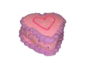 cake, pink, and pngs image