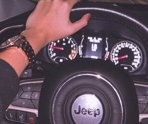 jeep and woman image