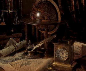 aesthetic, antique, and books image