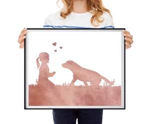 etsy, nursery printable, and girl and dog image