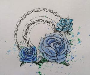graphic art, roses, and tattoideas image