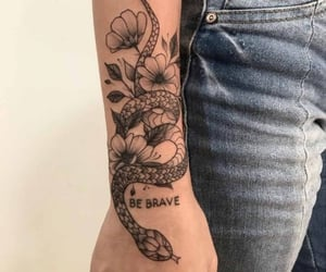 aesthetic, snake, and tattoo image