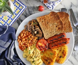 breakfast, eggs, and english image