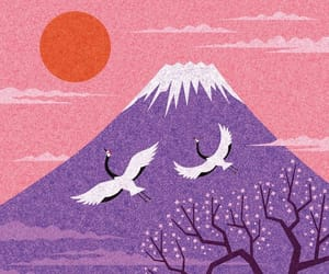 japan, pink, and purple image