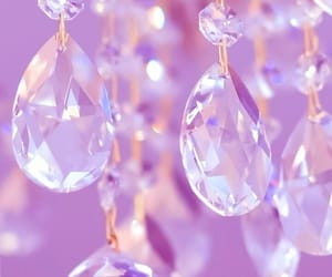 crystals, glitter, and lilac image