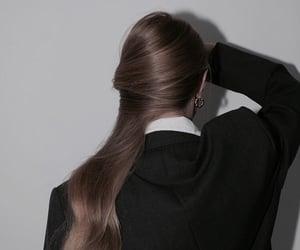 girl, brunette, and hair image