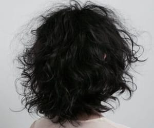 hairstyle, messy hair, and black bob image