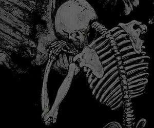 dark, sad, and skeleton image