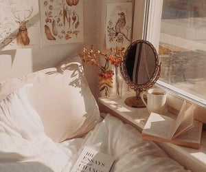 aesthetic, book, and bed image
